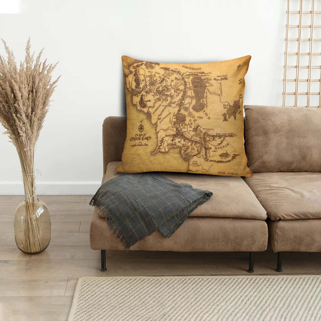 Middle-earth map cushion