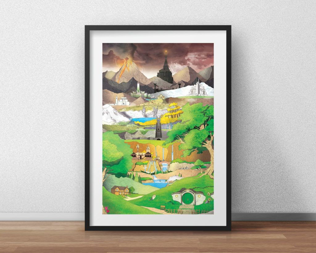Lord of the Rings Middle Earth art print
