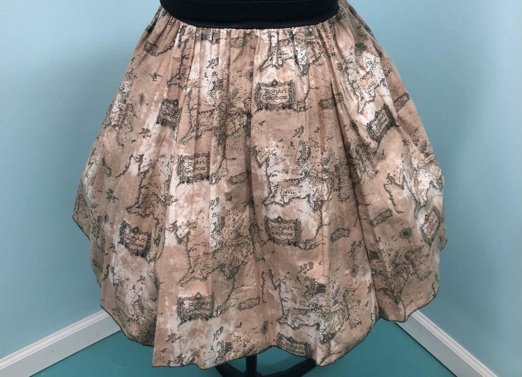 Middle-earth map skirt