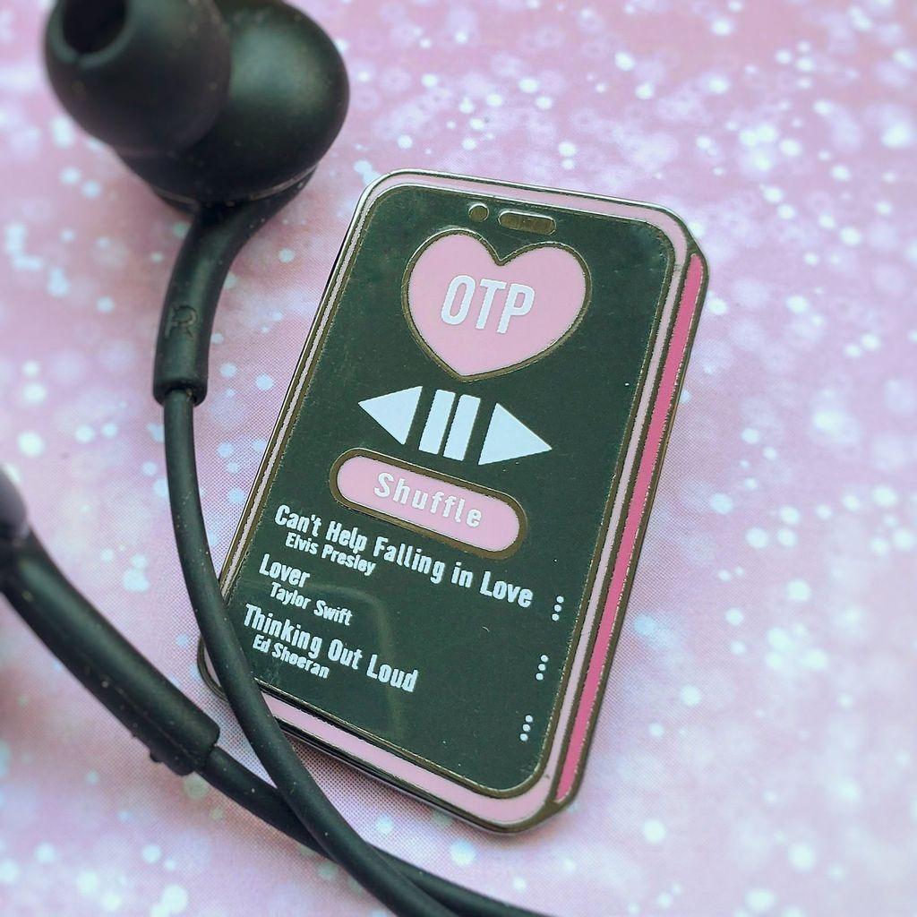 OTP playlist enamel pin