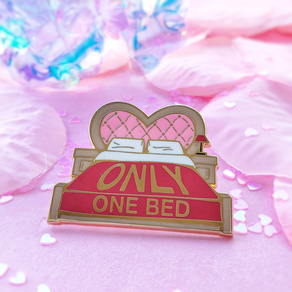 Only One Bed enamel pin