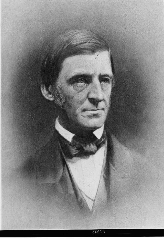 Portrait of 19th century essayist Ralph Waldo Emerson from the Library of Congress. https://www.loc.gov/item/96510824/
