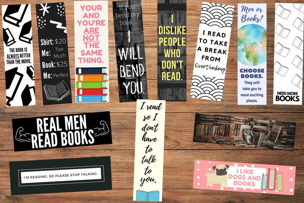 Series of Funny Bookmarks