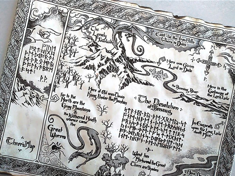 Imitation of Thror's Map from Lord of the Rings