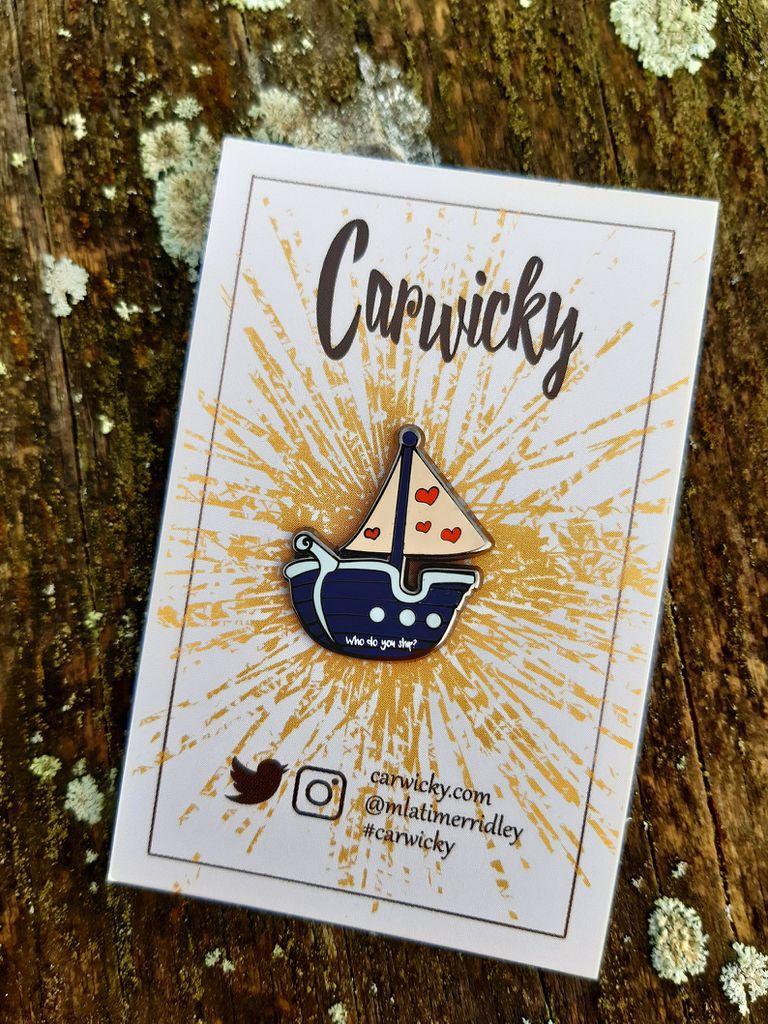 Who Do You Ship? enamel boat pin