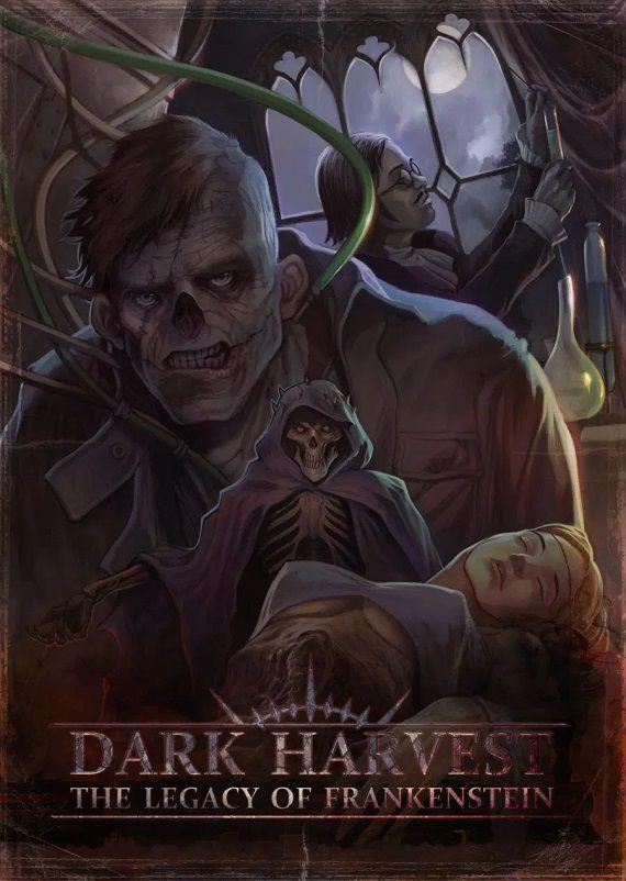Dark Harvest: The Legacy of Frankenstein game book cover