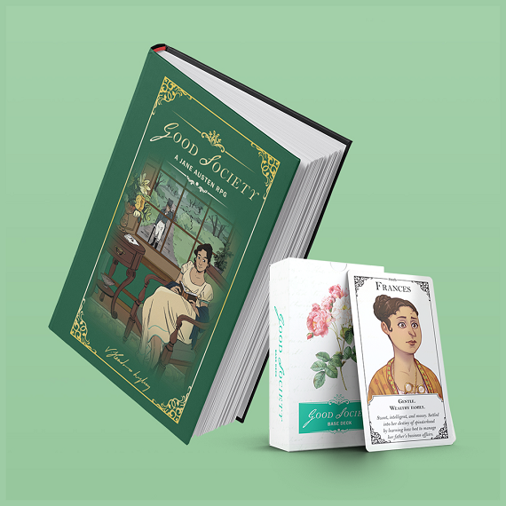 Good Society: A Jane Austen Roleplaying Game book and cards