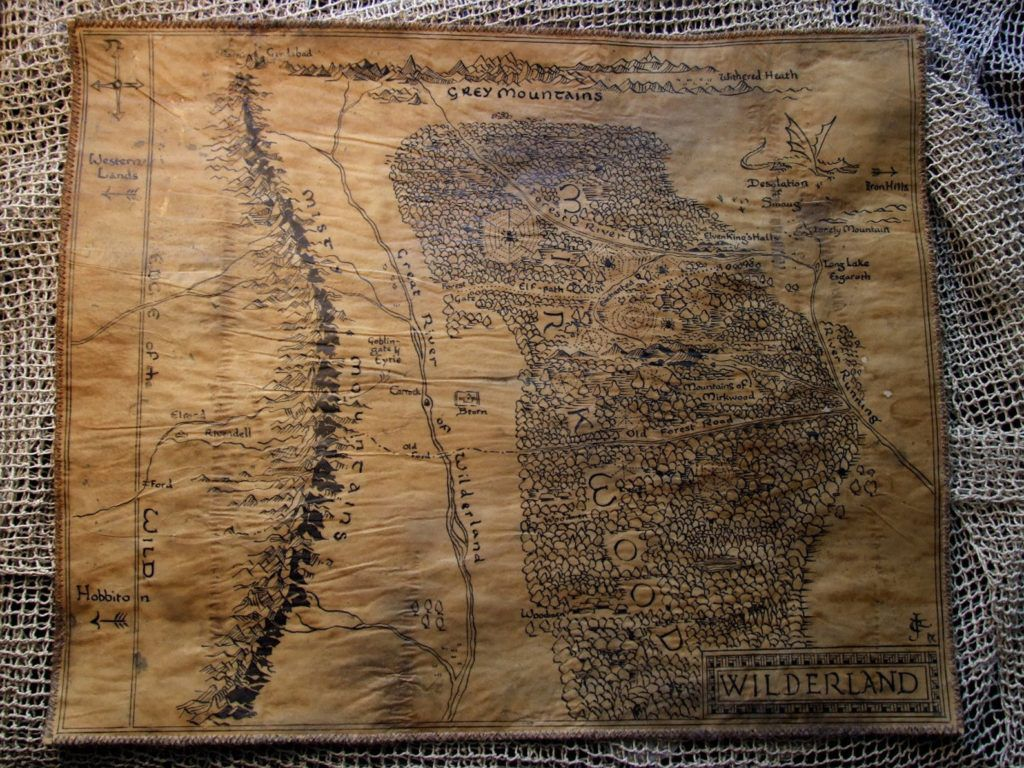Hand-drawn map of Middle-earth