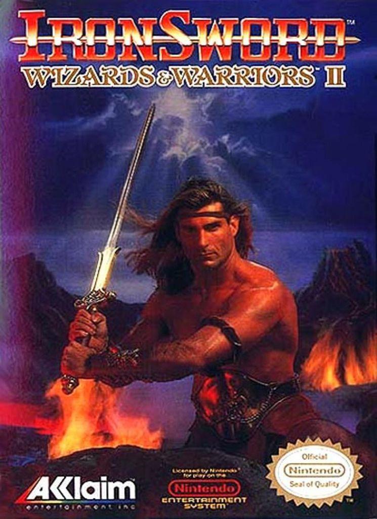 cover of Iron Sword video game, featuring Fabio