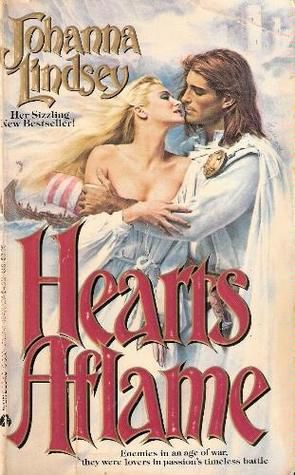 Hearts Aflame cover, featuring Fabio