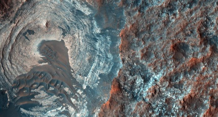 NASA image of Mars terrain from space