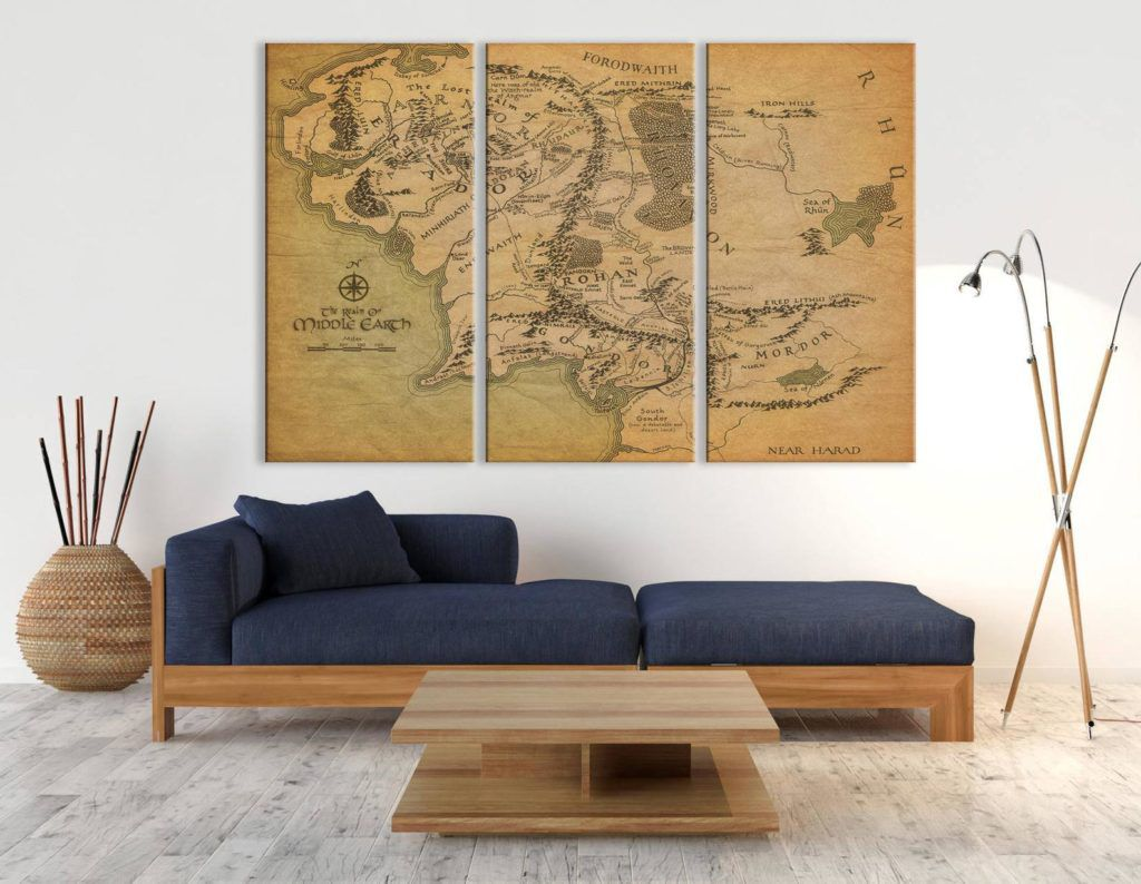 Middle-earth map print
