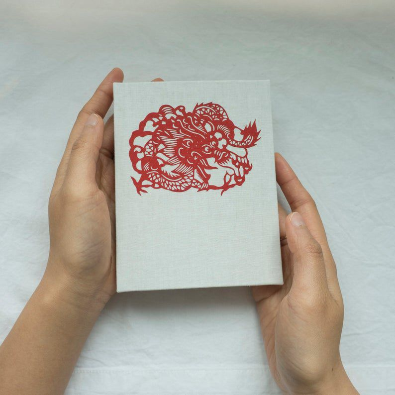 Chinese paper-cut dragon journal