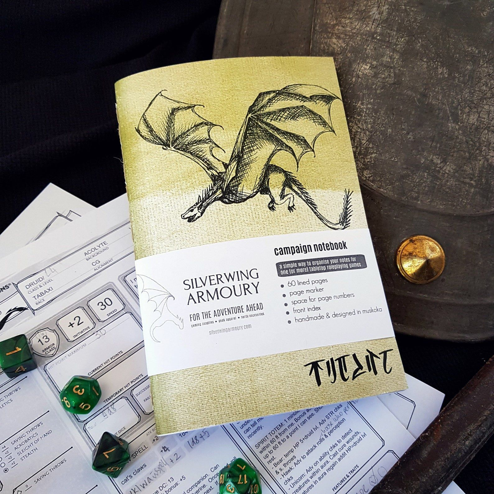 Dragon campaign notebook