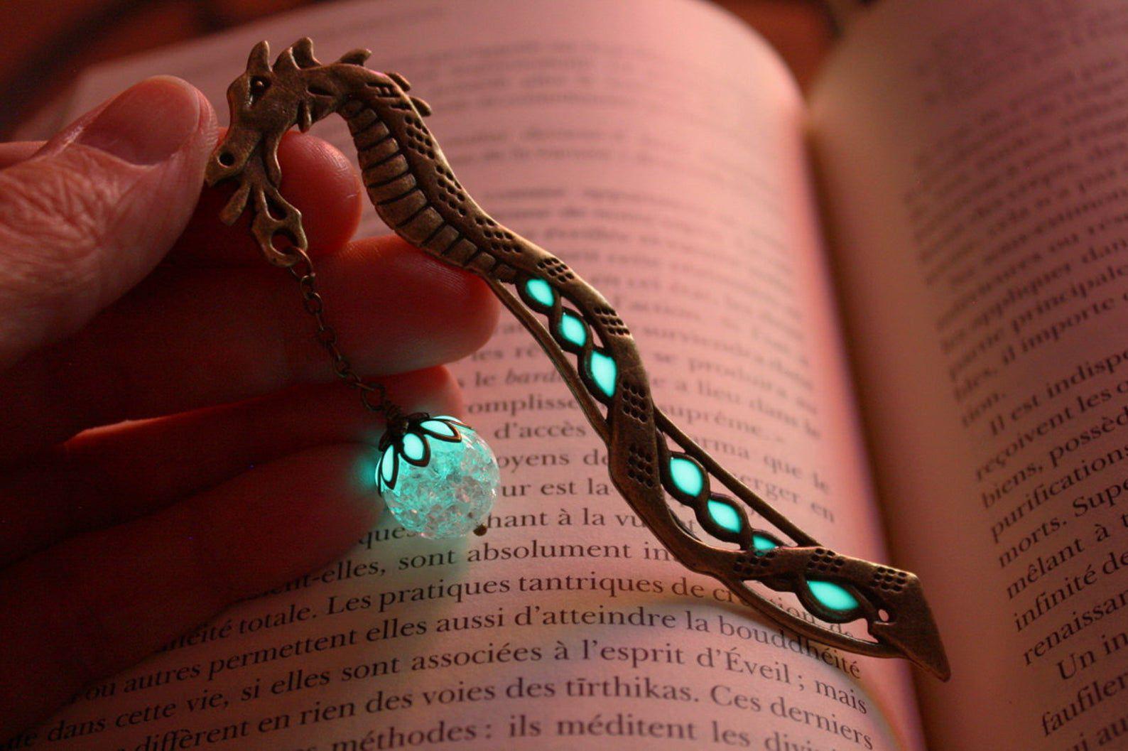 Glow in the dark dragon bookmark