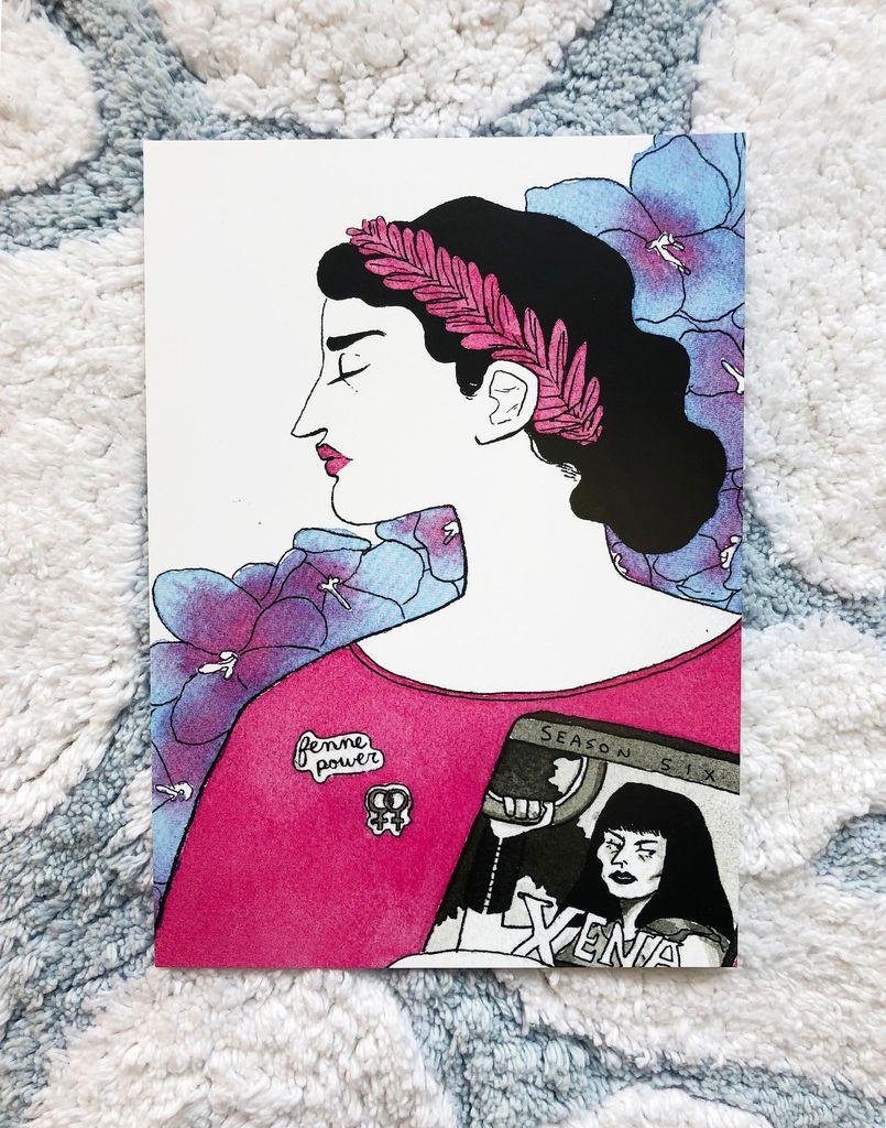Sappho and Xena art print