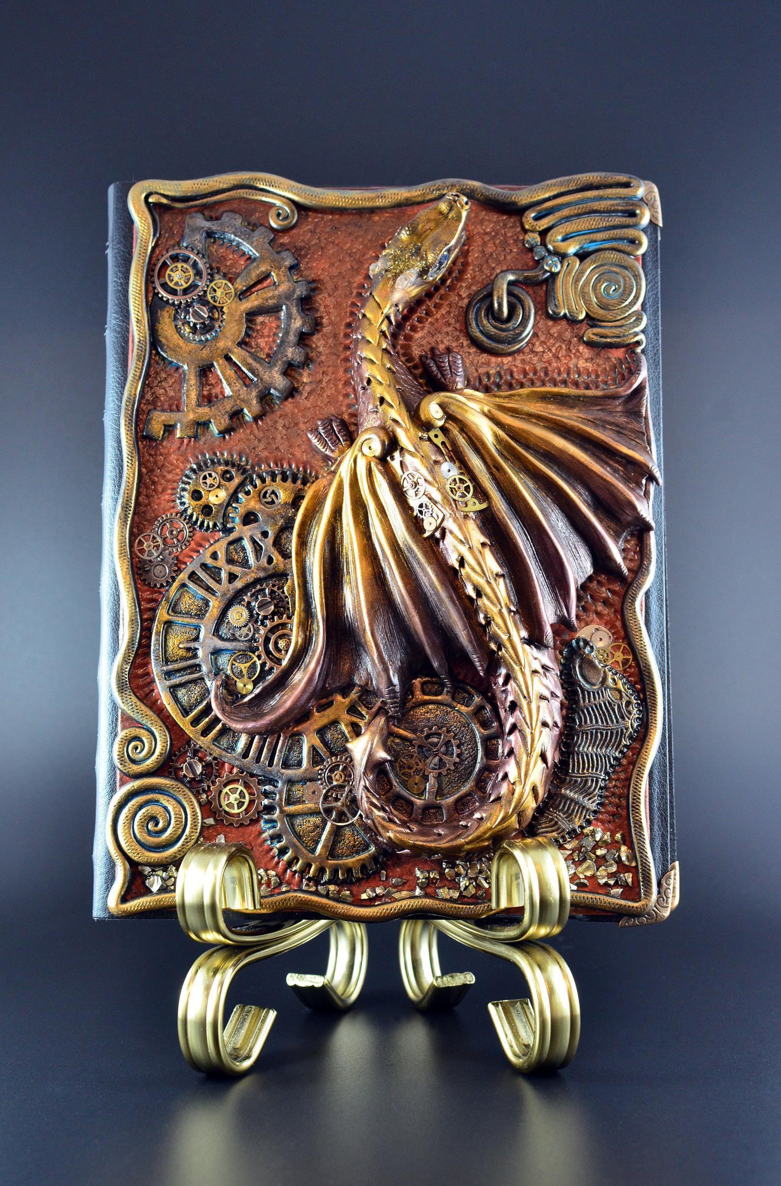 Steampunk dragon notebook