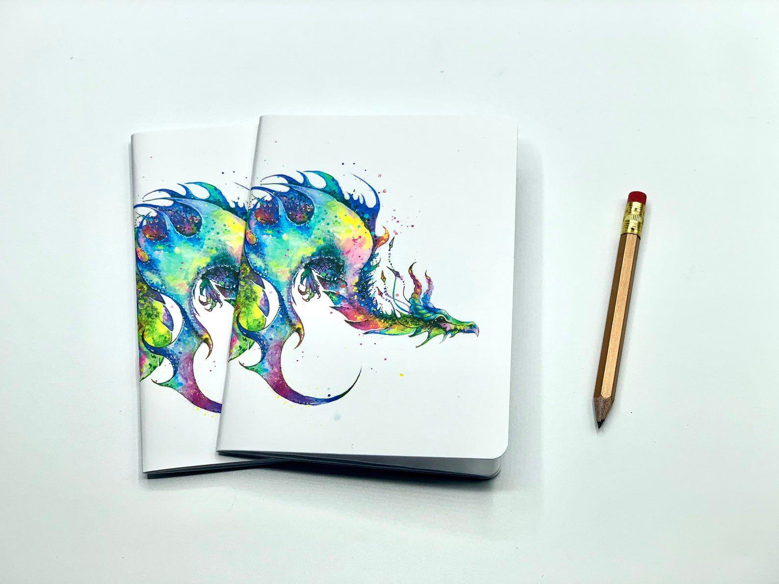 Watercolor dragon pocket notebooks