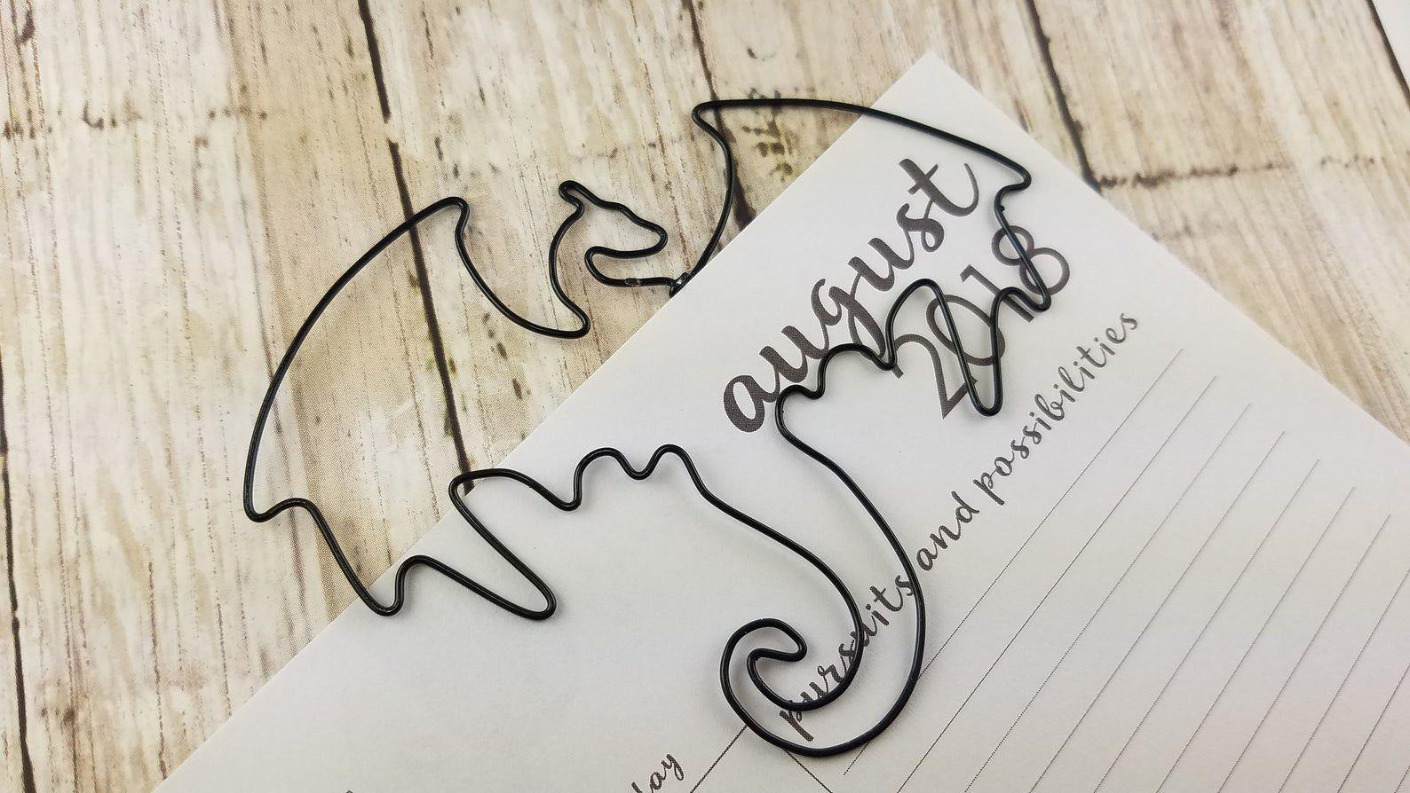 Wire dragon bookmark