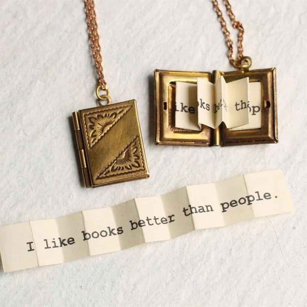 book locket necklace