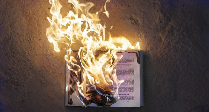 burning book for controversial books feature