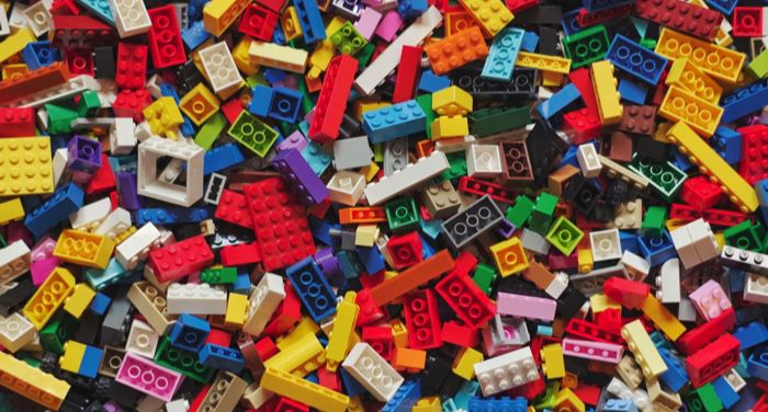 colorful lego blocks in a pile
