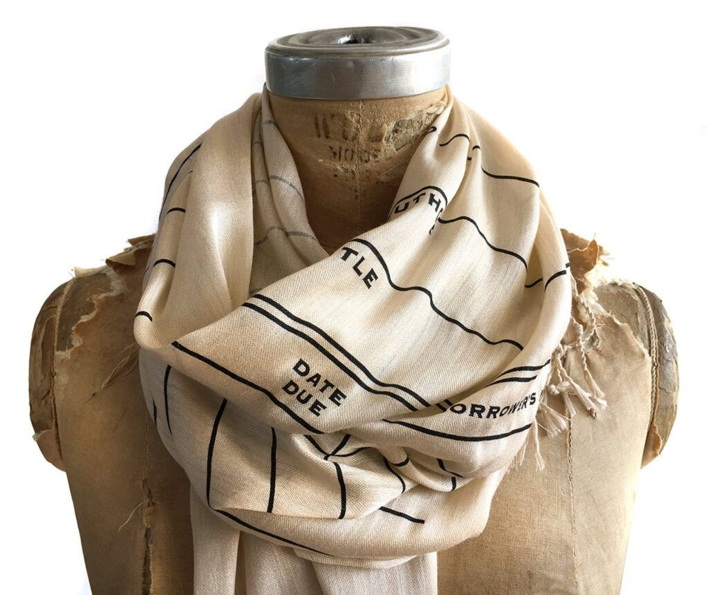 library book scarf