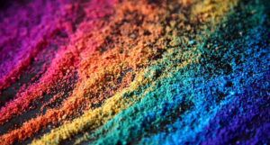 rainbow sand for LGBTQ feature