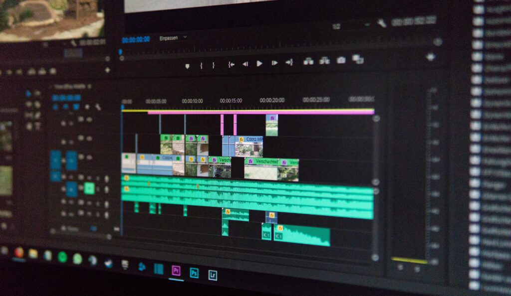 Screen of video editing