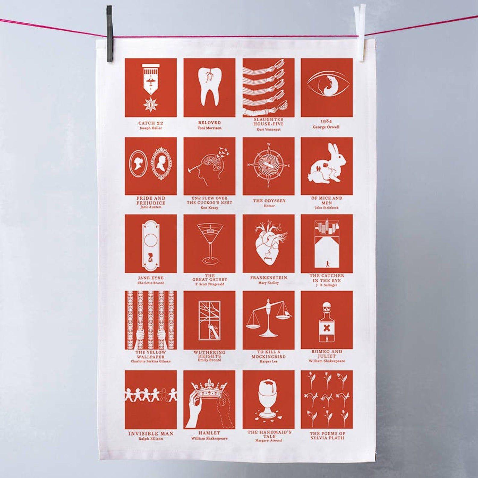 Alternative Classic Book Cover Tea Towel