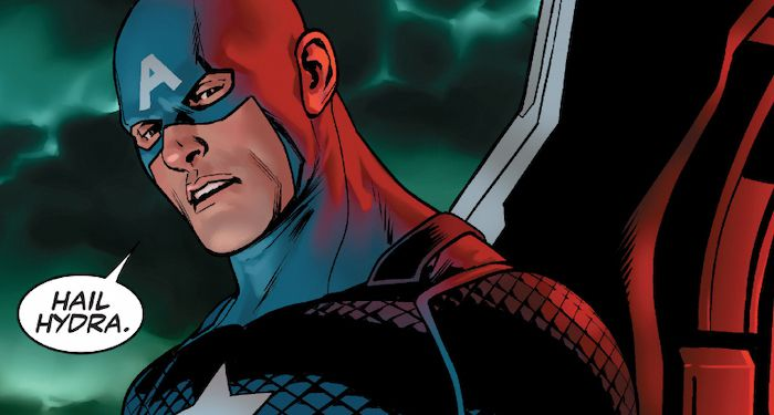 Captain American hail hydra panel