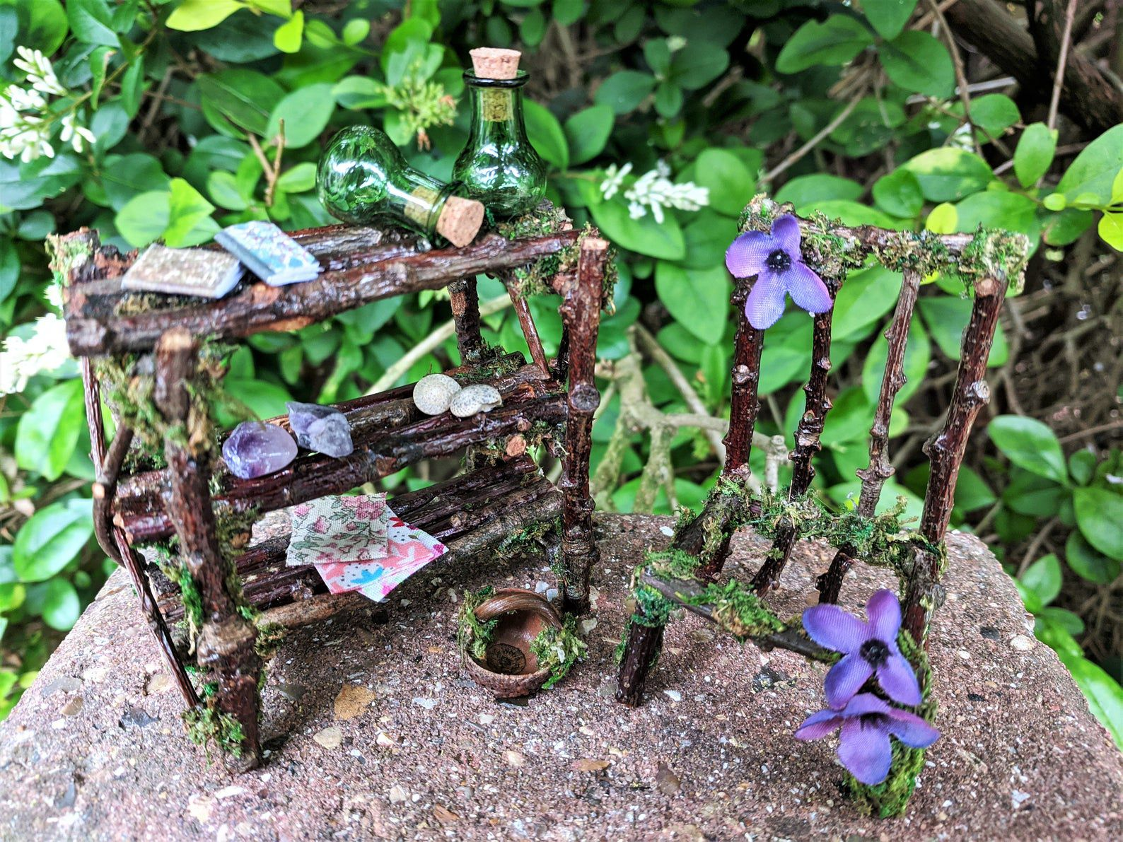Fairy bookcase and chair