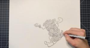 John Green drawing circles