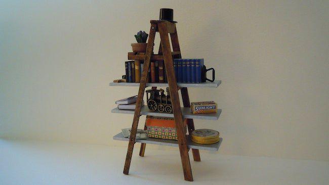 Miniature Stepladder Bookcase