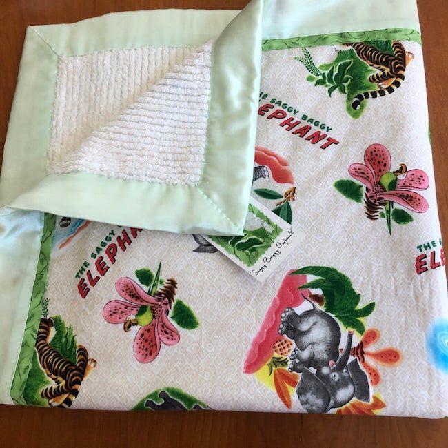 The Saggy Baggy Elephant crib blanket