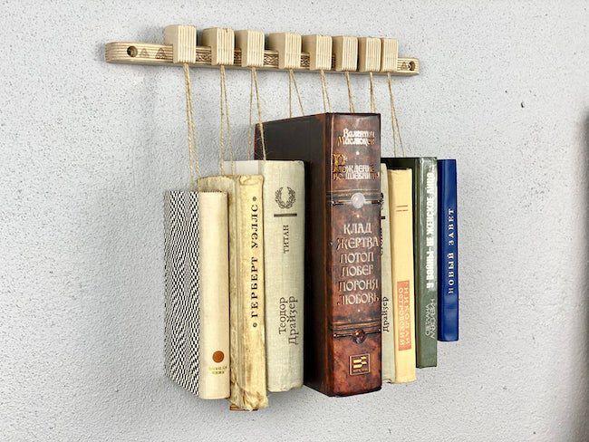 Birch book rack