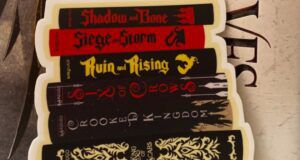 image of a Grishaverse book stack sticker