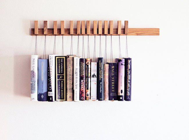 Custom wooden book rack