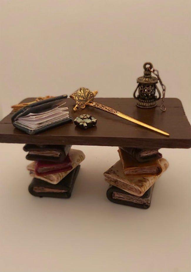 dollhouse book table