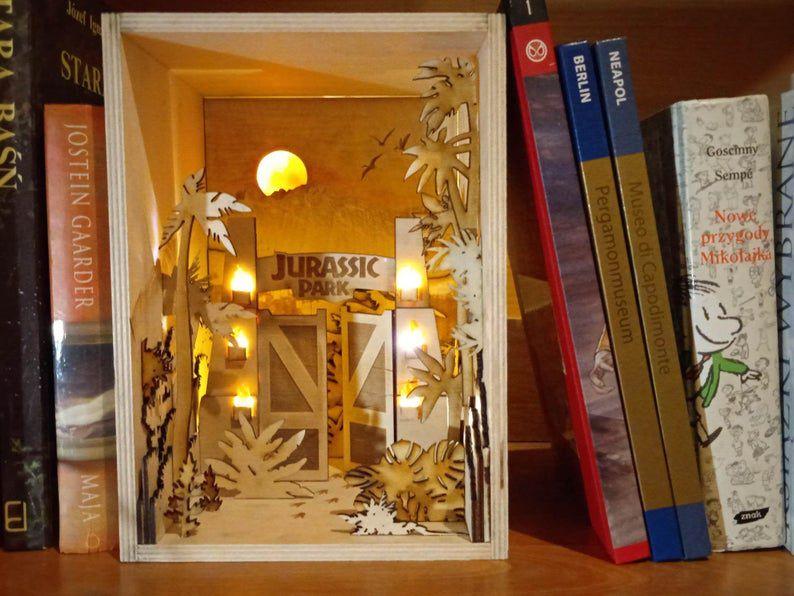 Jurassic Park shelf insert