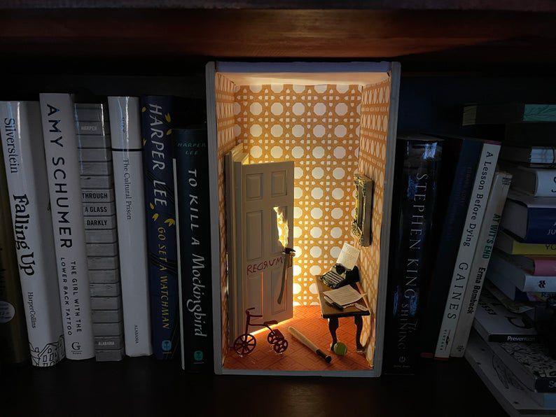 The Shining themed shelf insert