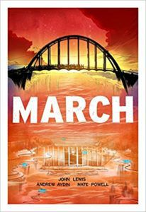 cover image of March Trilogy by John Lewis, Andrew Aydin, illustrated by Nate Powell