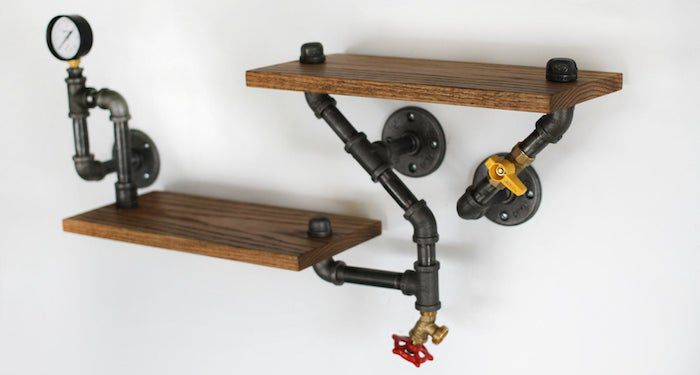 industrial shelving feature