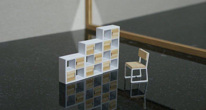 modular dollhouse bookshelves