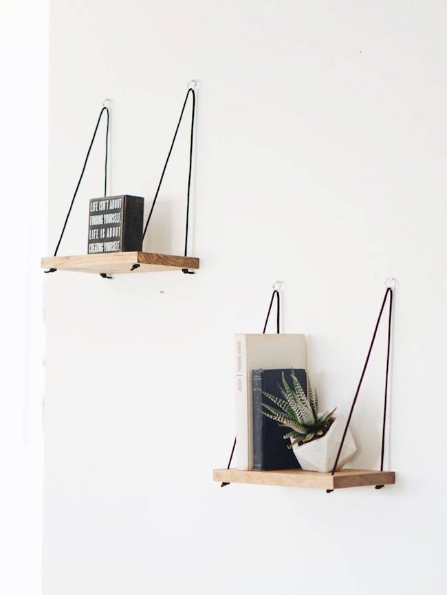 Two small hanging shelves
