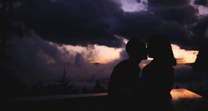 image of couple in silhouette kissing at sunset https://unsplash.com/photos/y_GZeVrdl-o