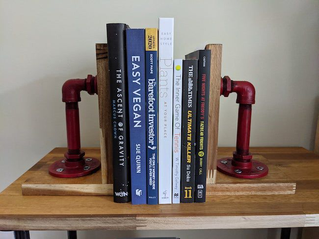 vintage pipe bookends