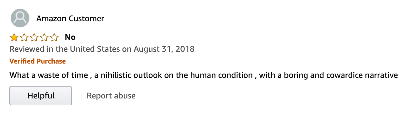 1984 Amazon 1 star review