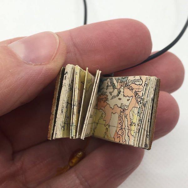 Antique Miniature Book necklace