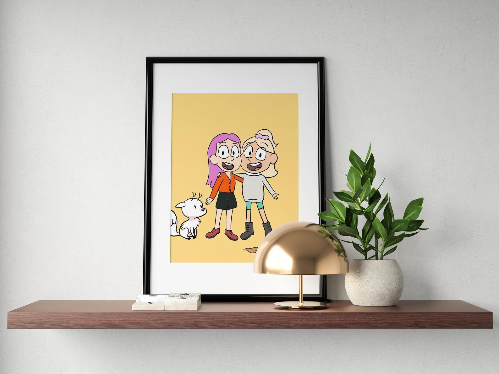custom Hilda cartoon art print